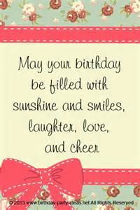 Birthday Card Saying May Your Birthday Be Filled With Sunshine And Smiles