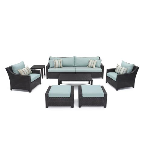 rst brands deco 8 patio seating set with bliss blue