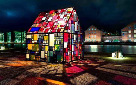 stained glass house   brooklyn bridge robotspacebrain