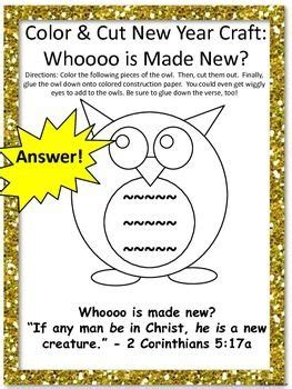 new year sunday bible lessons owl crafts and new year s on