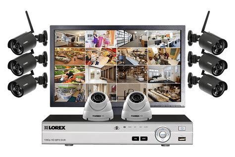 security system security system with 6 wireless cameras 2 domes and