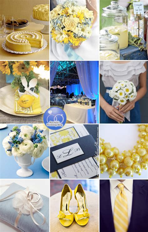 A Blue and Lemon Yellow Wedding {inspiration board}