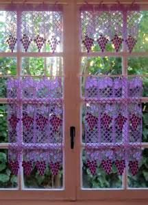 rideaux cuisine de dentelle dentelle violet brise bise set
