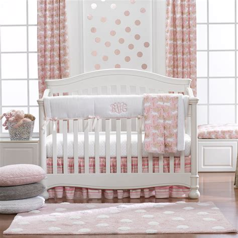 Unicorn Crib Bedding Unicorn Forest Bumperless Crib Bedding Liz And Roo