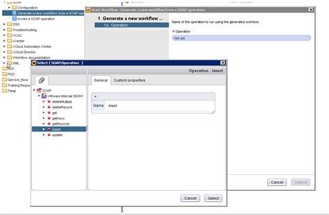 workflow creation part 1 vcloud automation center service now