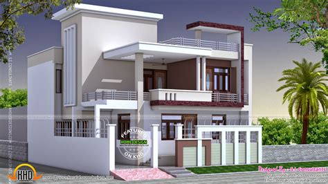 50 yard home design north indian square roof house kerala home design and