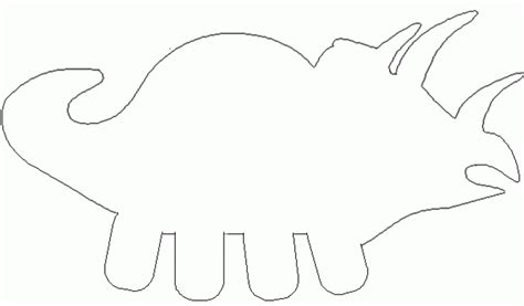 dinosaur template preschool clipart best