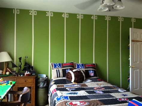 football room my boys tween football room all for the boy football wall ideas and football