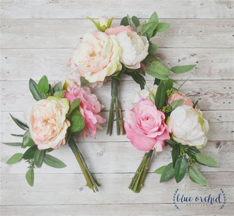 And Bridesmaids Bouquets by Boho Bridesmaid Bouquet Bridesmaid Bouquet Silk Bouquet