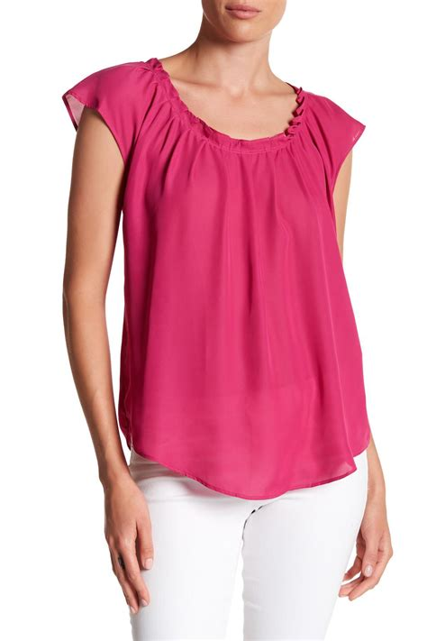 Cold And Fresh Shirt Kaos Putih Size S 3xl lyst joe fresh pleated back tie blouse in pink