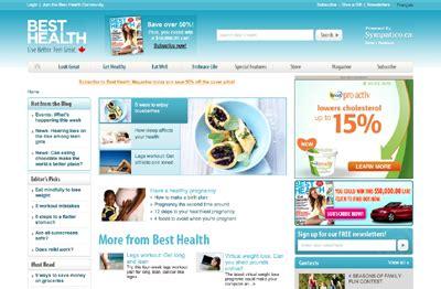 best health news websites besthealthmag ca launches website redesign masthead