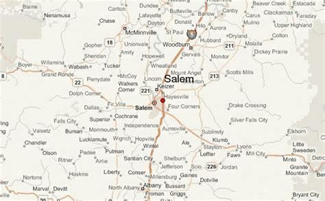 map of salem oregon salem oregon location guide