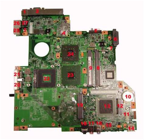 Acer Travelmate 7720g Usb Slot Port Socket Board With Cable 1 bottom view acer travelmate 3250 2470 acer laptop