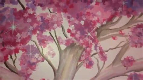sakura flower mural wall painting youtube cherry blossom tree mural hand painted by drews wonder
