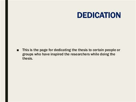 dissertation dedication exle thesis format