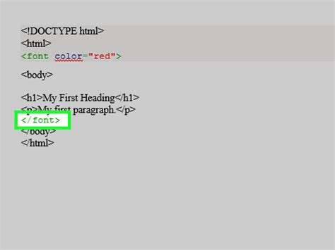 html color font how to use font color tags in html with sle html