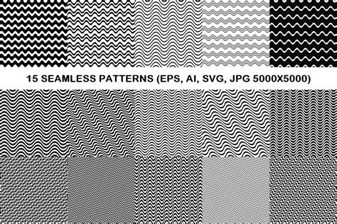 svg pattern jpg 15 seamless wave line patterns eps ai design bundles
