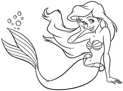 Draw Disney Princess Ariel Coloring Pages 27 For Free Princess Drawing Free Coloring Sheets
