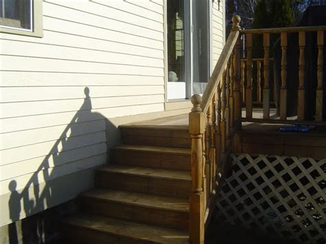 Build Stair Railing Build Deck Stair Railing