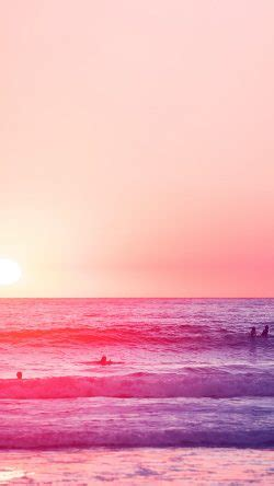papersco mw happy beach sea holiday nature fun city pink  iphone wallpaper xjpg