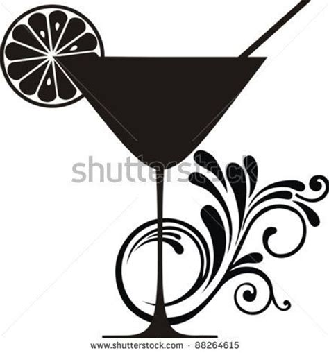 cocktail party silhouette drink menu silhouette and cocktails on pinterest