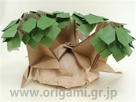Modular Origami Tree - origami tanteidan magazine volume 26 issue 151 156