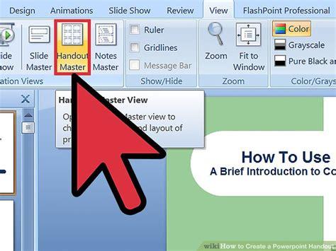 How To Create A Powerpoint Handout 9 Steps With Pictures How To Make Ppt Template 2007