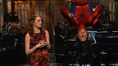 emma stone on snl watch monologue emma stone on spider man from saturday