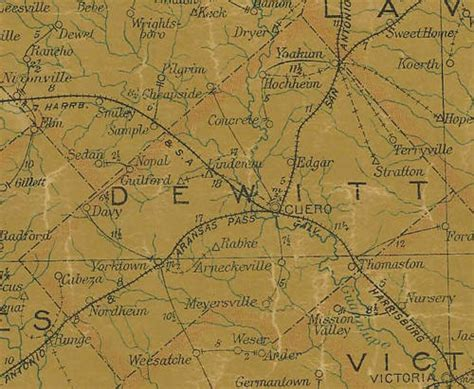 dewitt county texas map lindenau texas