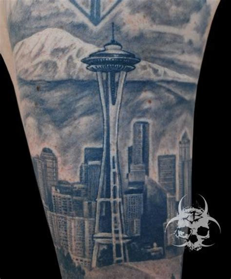 seattle skyline tattoo designs seattle skyline by jeremiah barba tattoos