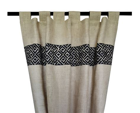 burlap drapes and curtains buy handmade burlap embroidered curtains drapes and