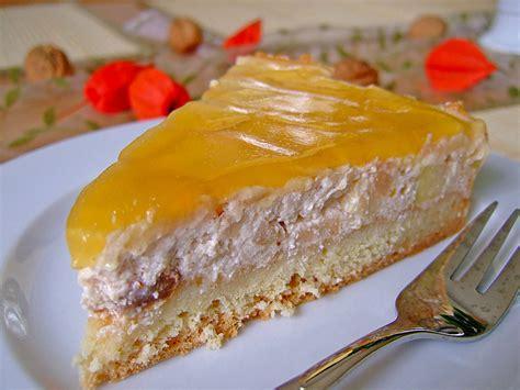 herbstliche kuchen herbstliche apfelwein torte mit guss rezept mit bild