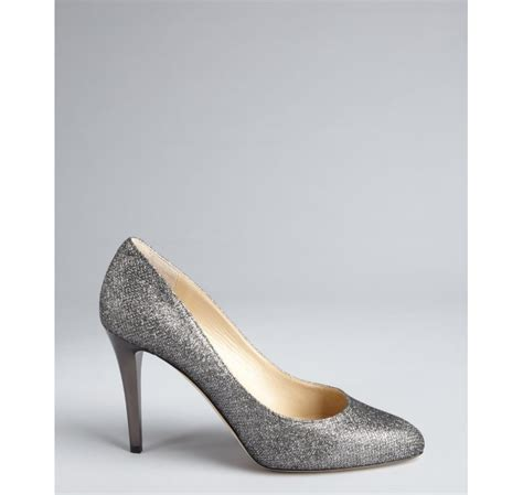 Pumps Heels Glossy K0405 lyst jimmy choo anthracite glitter leather and shiny