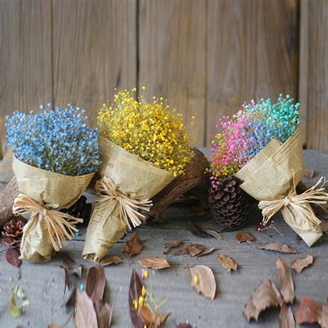 dry flowers decoration for home provence dried flower wedding bouquet dried flowers