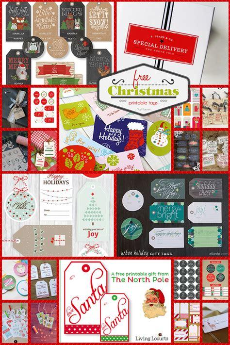 Halloween Gift Wrap - free printable christmas tags