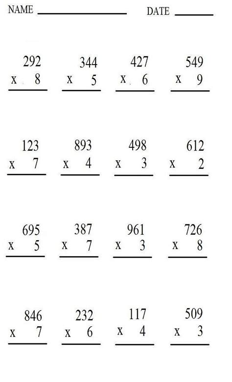 Multiplication Worksheets Free by Multiplication Worksheet Multiplication Times Tables Times