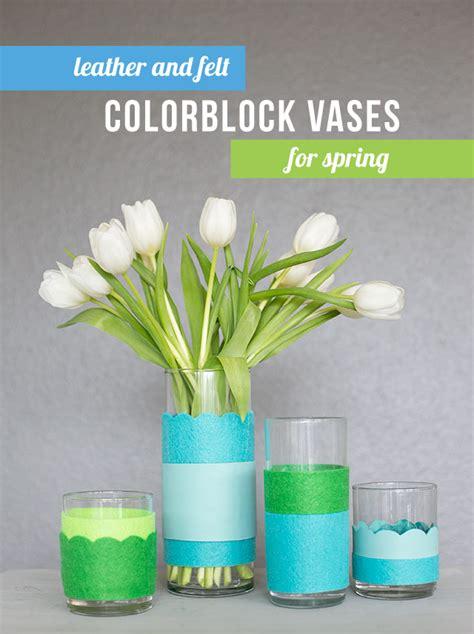 Craft Ideas For Home Decor Pinterest Diy Spring Decor Colorblock Vases Love The Big Impact