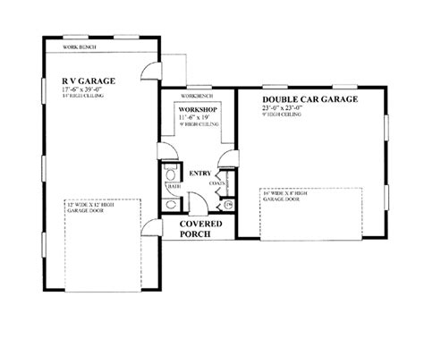 rv garage floor plans house plans home plans floor plans and home building