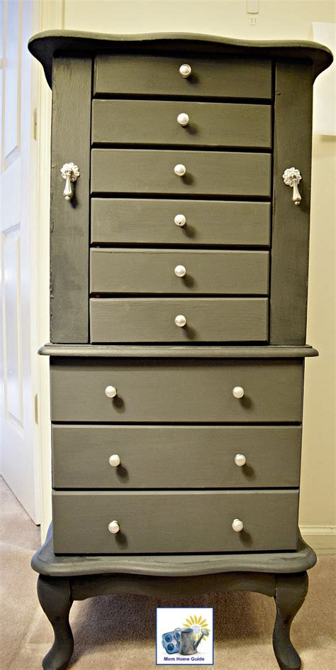 Painted Jewelry Armoire by Chalk Painted Jewelry Armoire