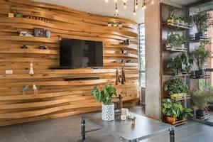 accent walls warmth and texture 10 unique living room wood accent walls
