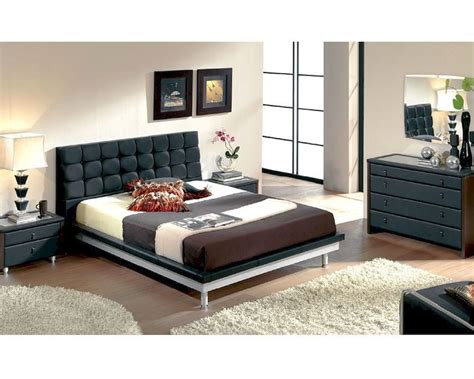 black contemporary bedroom furniture modern bedroom set in black made in spain 33b51