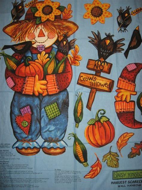 daisy kingdom halloween harvest scarecrow  backing