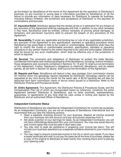 agreement of partenership salon salon partner contract senegence distributor handbook by
