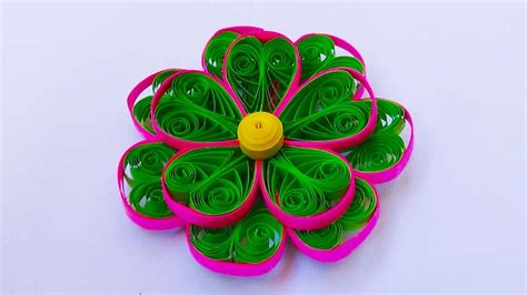 tutorial paper quilling 3d paper quilling 3 color 3d quilling flower tutorial youtube