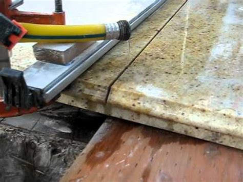 diy granite slab cutting for the time version