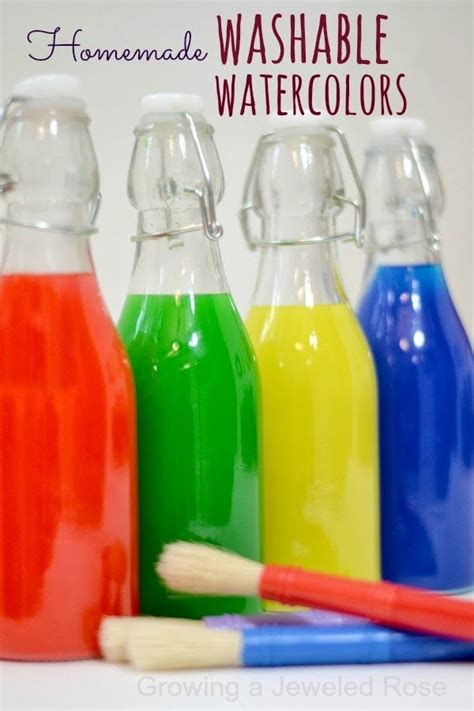 liquid water colors make your own washable liquid watercolor paints these are