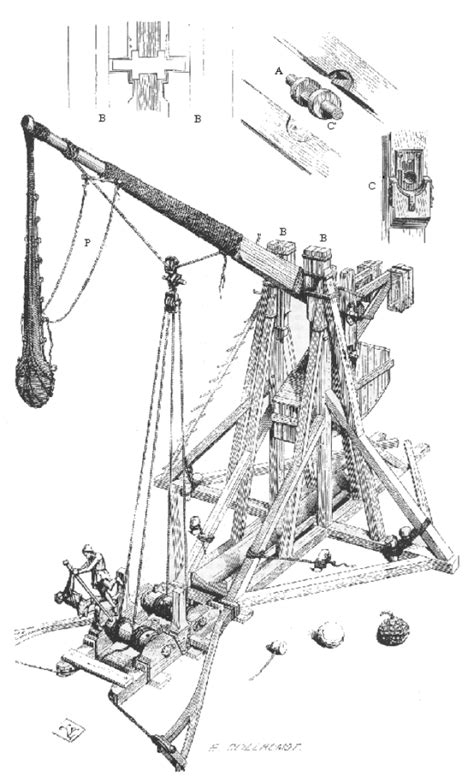 diagram of a trebuchet warwolf and the hammering of the scots vaguely interesting
