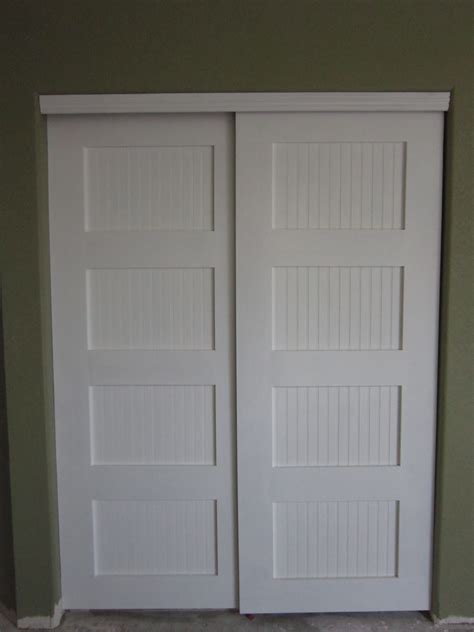 The Closet Door by White Bypass Closet Doors Diy Projects