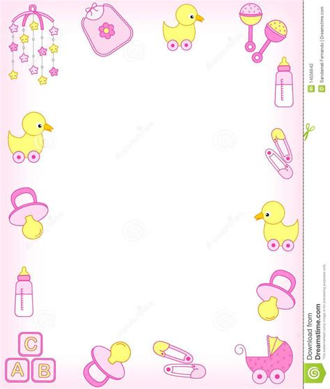 free printable baby shower borders baby border clipart