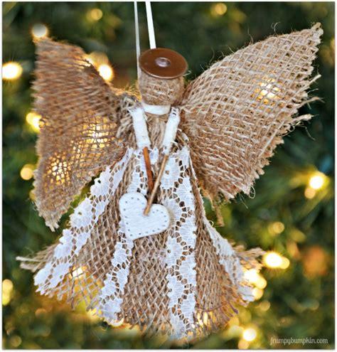hometalk burlap angel christmas ornament